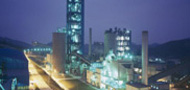The Chogging in cement works at night , Chongging , China